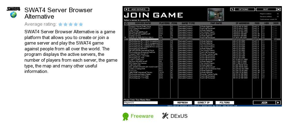 SWAT4 Server Browser Alternative