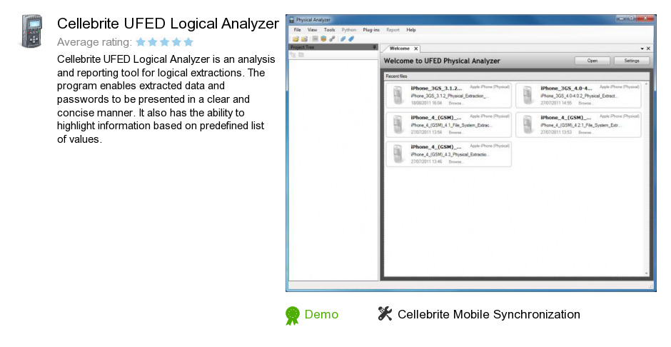 Free Cellebrite UFED Logical Analyzer Download: 194,585,852 bytes