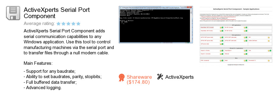 ActiveXperts Serial Port Component