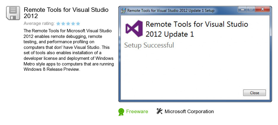 Remote Tools for Visual Studio 2012