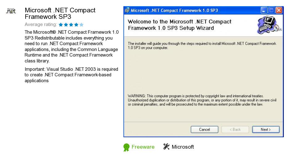 Microsoft .NET Compact Framework SP3