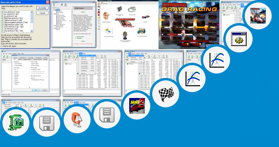Software collection for Drag Racing Cab