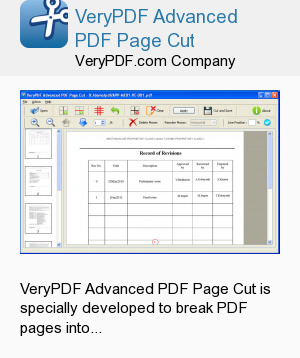 VeryPDF Advanced PDF Page Cut