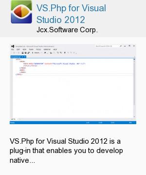 VS.Php for Visual Studio 2012