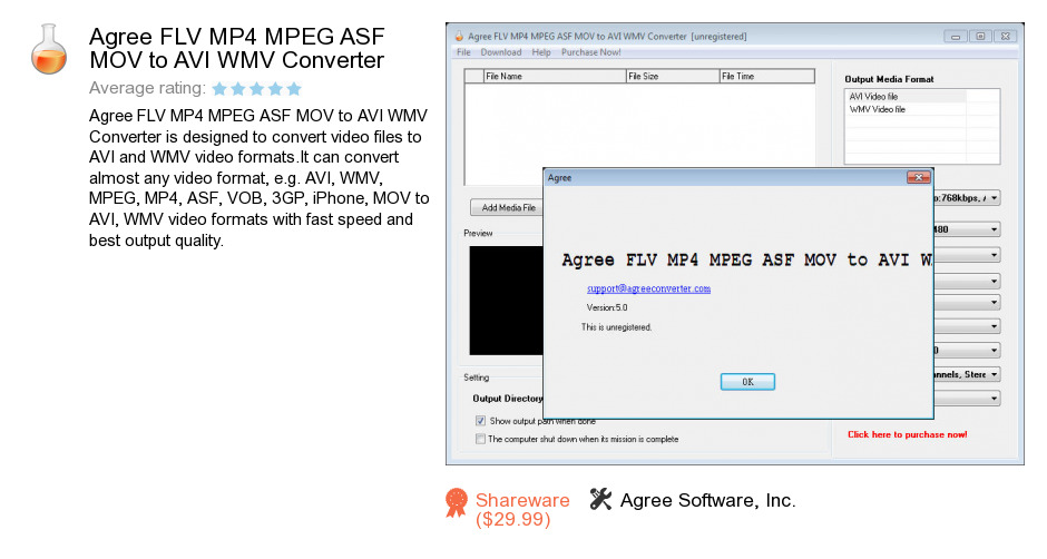 Agree FLV MP4 MPEG ASF MOV to AVI WMV Converter