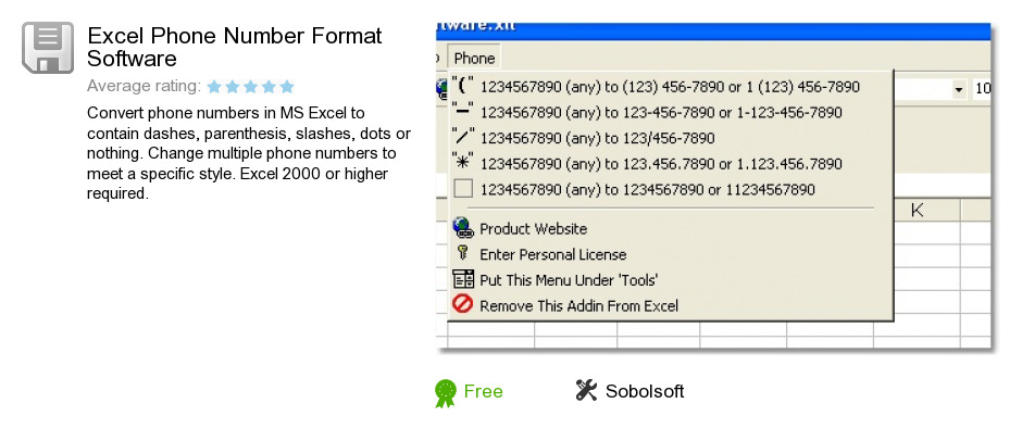 Excel Phone Number Format Software