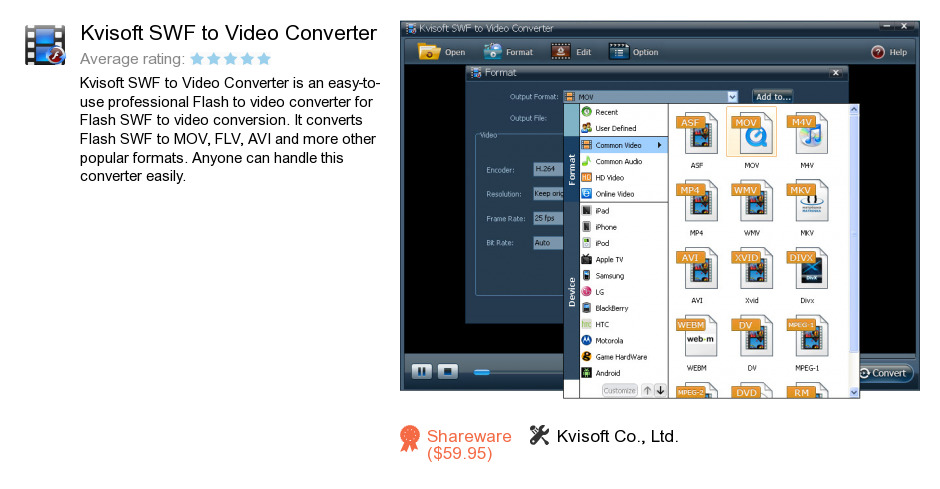 Kvisoft SWF to Video Converter