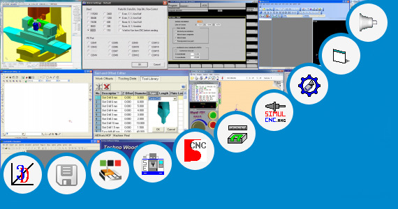 Software collection for Cnc Lathe Simulation Software