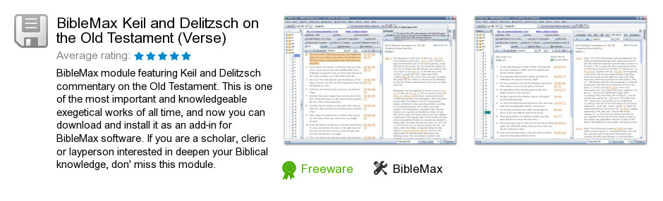 BibleMax Keil and Delitzsch on the Old Testament (Verse)
