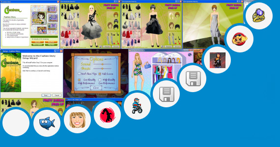 Software collection for Fashion Designer Game 320x240