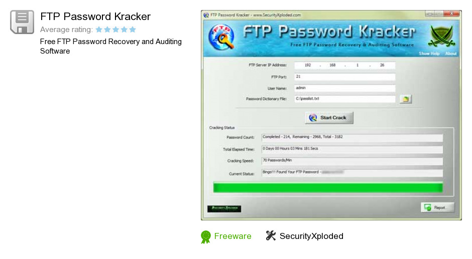 FTP Password Kracker