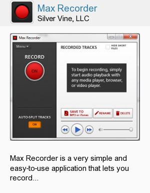 Max Recorder