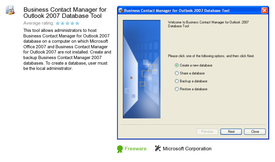Outlook 2007 contact manager download, repair access 2007
