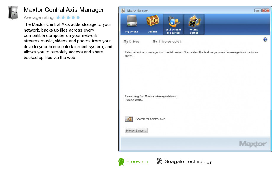 Maxtor Central Axis Manager