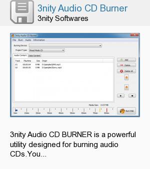 3nity Audio CD Burner