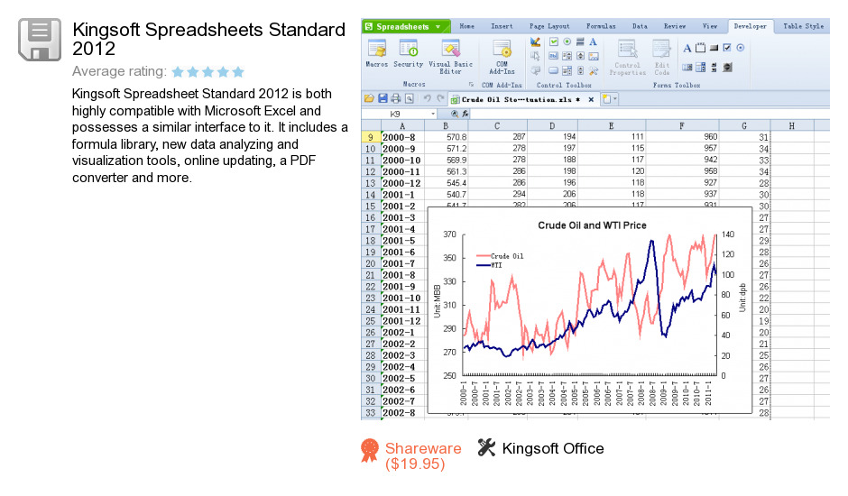 Kingsoft Spreadsheets Standard 2012