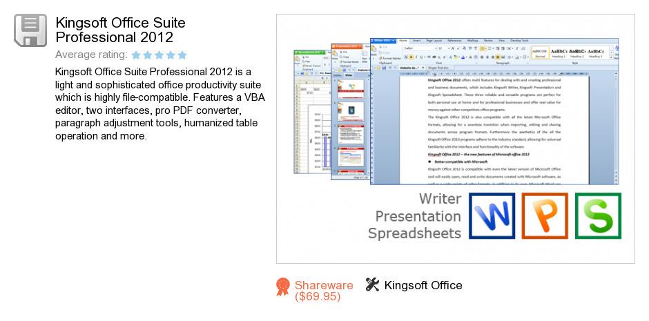 Kingsoft Office Suite Professional 2012