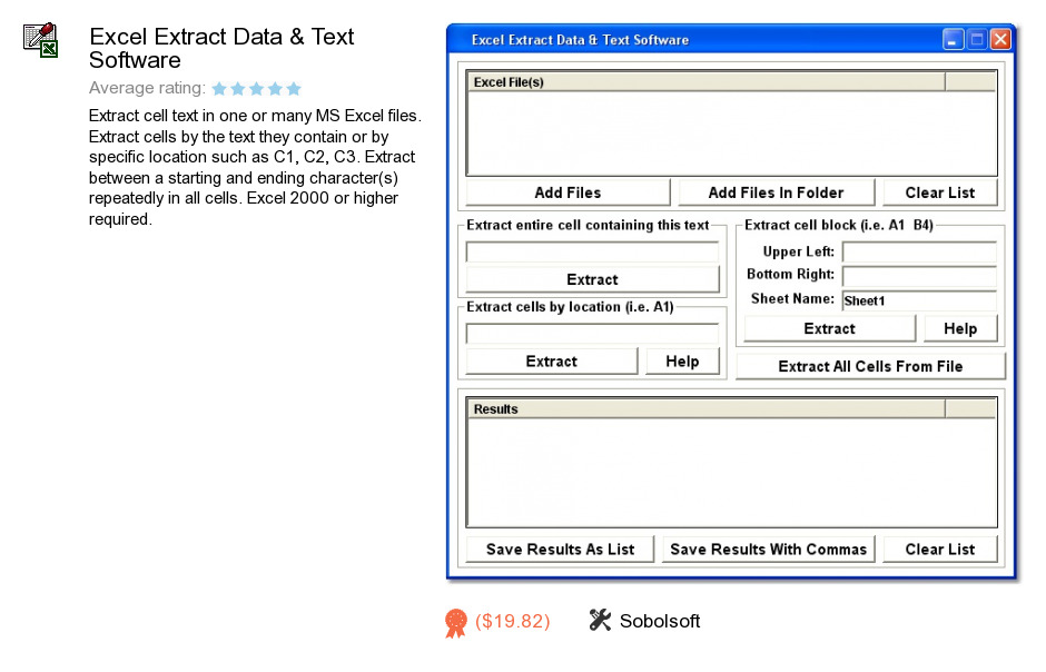 Excel Extract Data & Text Software