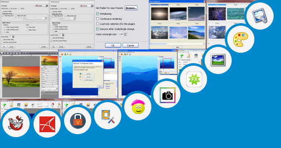 Software collection for Sun Glow Photo Edit Effect
