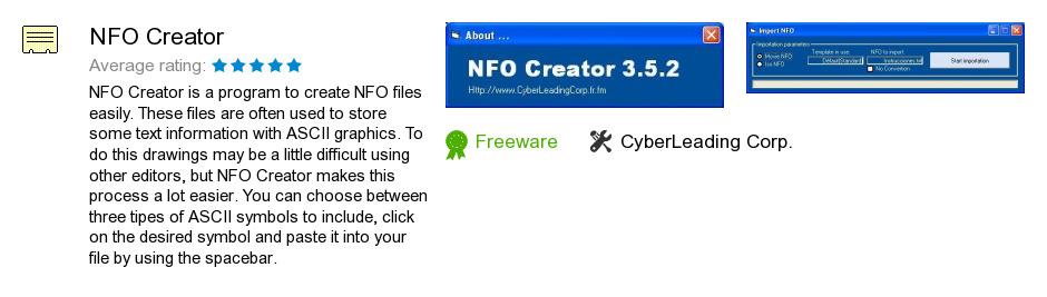 NFO Creator