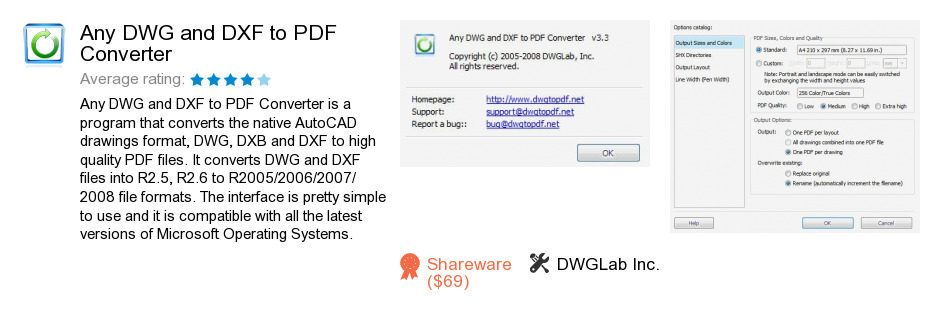 Any DWG and DXF to PDF Converter