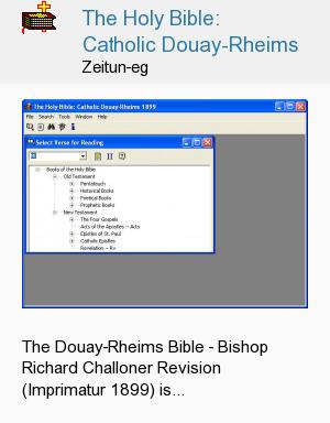 The Holy Bible: Catholic Douay-Rheims