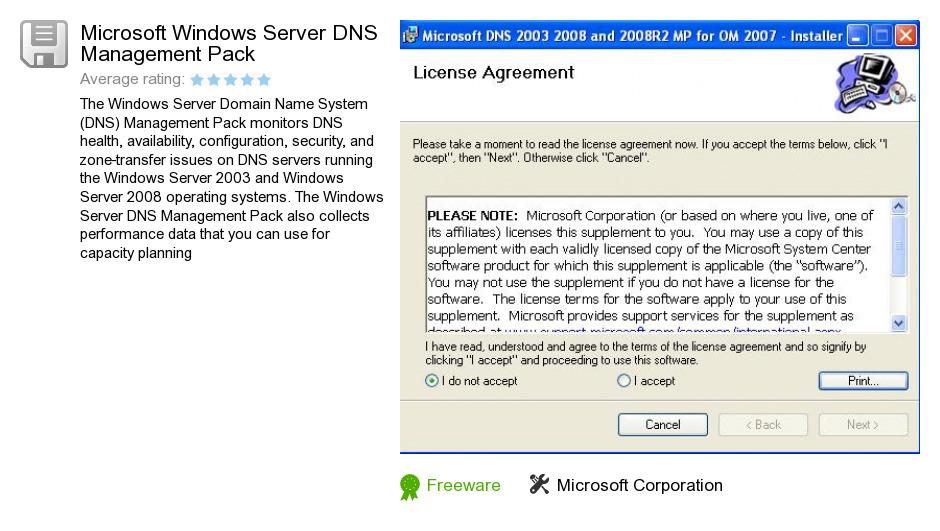 Microsoft Windows Server DNS Management Pack