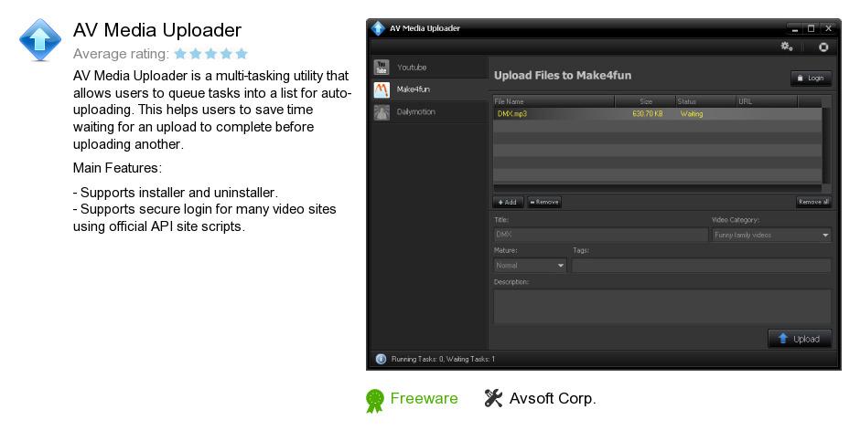 AV Media Uploader