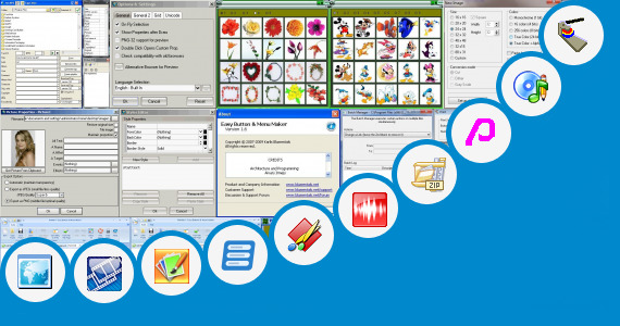 Software collection for Button Badge Editor