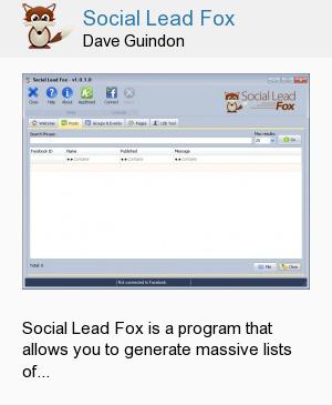 Social Lead Fox