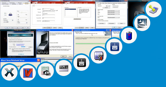 Software collection for Sony Vaio Battery Software