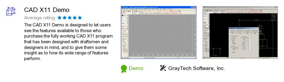 CAD X11 Demo