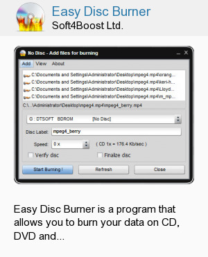 Easy Disc Burner