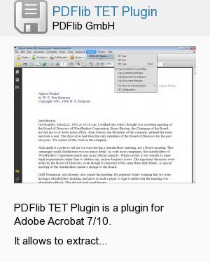 PDFlib TET Plugin