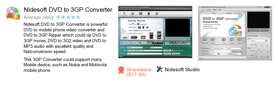 Nidesoft DVD to 3GP Converter