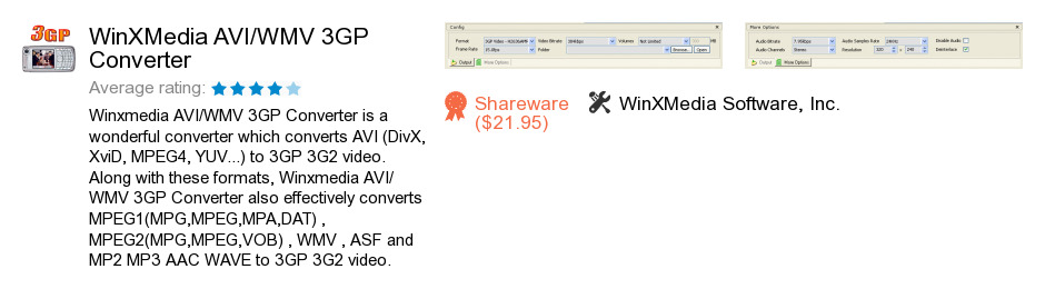 WinXMedia AVI/WMV 3GP Converter