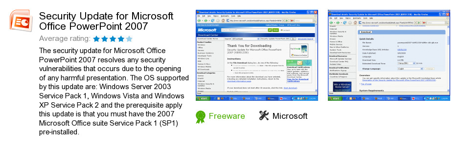 Security Update for Microsoft Office PowerPoint 2007