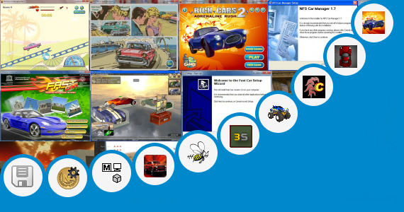 Software collection for 4 Vilar Car Game