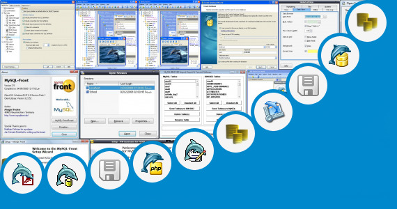 Software collection for Portable Mysql Front
