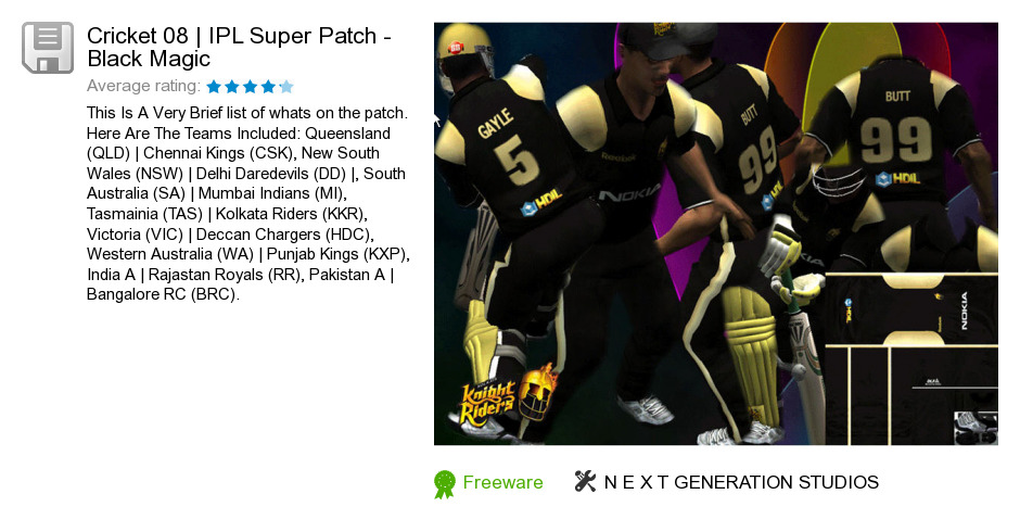Cricket 08 | IPL Super Patch - Black Magic