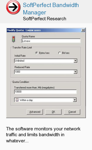 SoftPerfect Bandwidth Manager