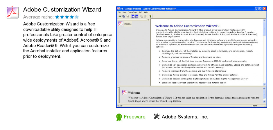 Adobe Customization Wizard