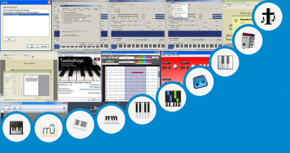 Software collection for Christian Songs Keyboard Notes