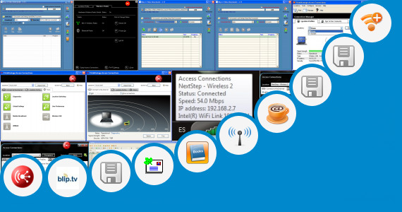 Software collection for Internet  Manager Laptop