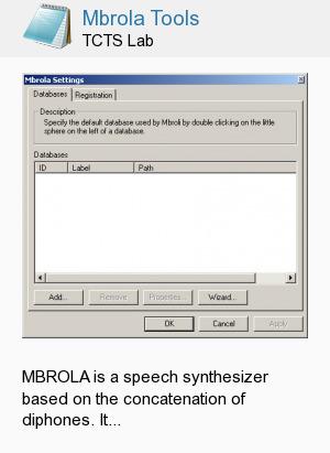Mbrola Tools