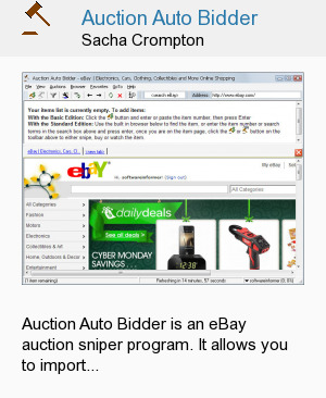 Auction Auto Bidder