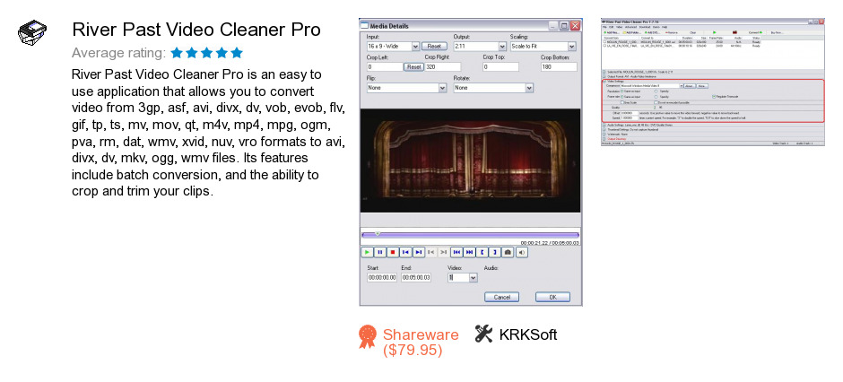 River Past Video Cleaner Pro