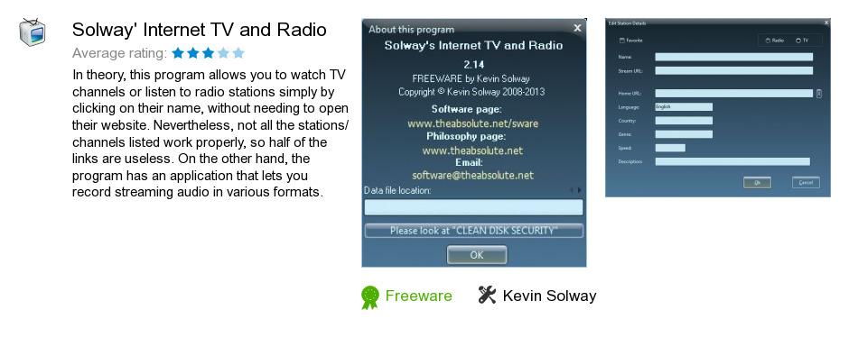 Solway's Internet TV and Radio