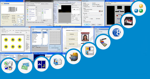 Software collection for 25mm Badge Making Software
