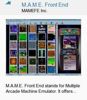 M.A.M.E. Front End
